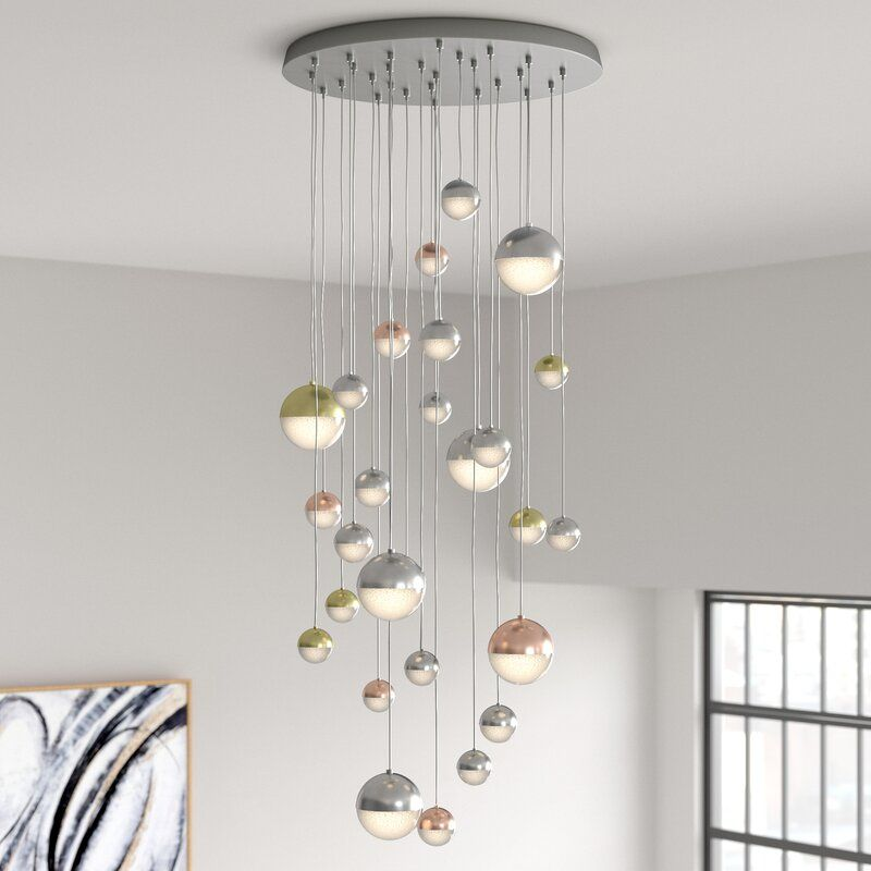 Sphere Led Cluster Pendant Clear Glass Lamps Light Fittings Light Decorations