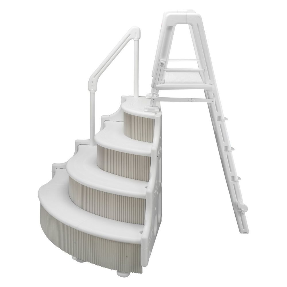 Grand Entrance Steps Outside Ladder For Above Ground Pools Wedding Cake Style Pool Steps Above Ground Pool Steps Above Ground Pool