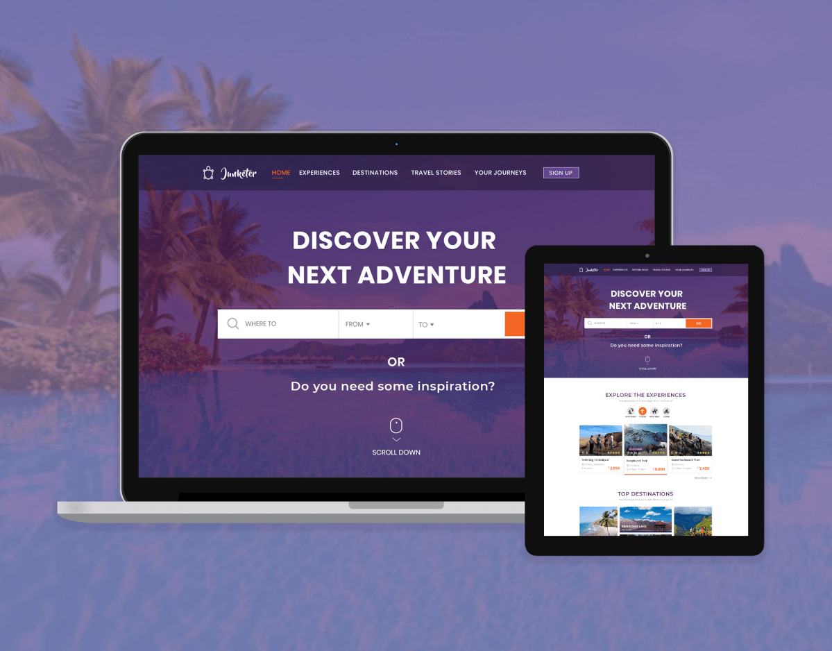 Junketer Travel E-commerce Website   Design Ideas   Travel