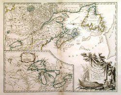 Vintage Atlantic Canada Map