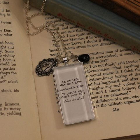 Morrissey Quote Necklace. In my life why do I give valuable time to people who don't care if I live or die