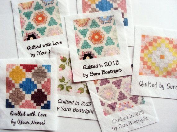 Custom Quilt Labels, 8 large personalized fabric tags for your ... : personalized quilting tags - Adamdwight.com