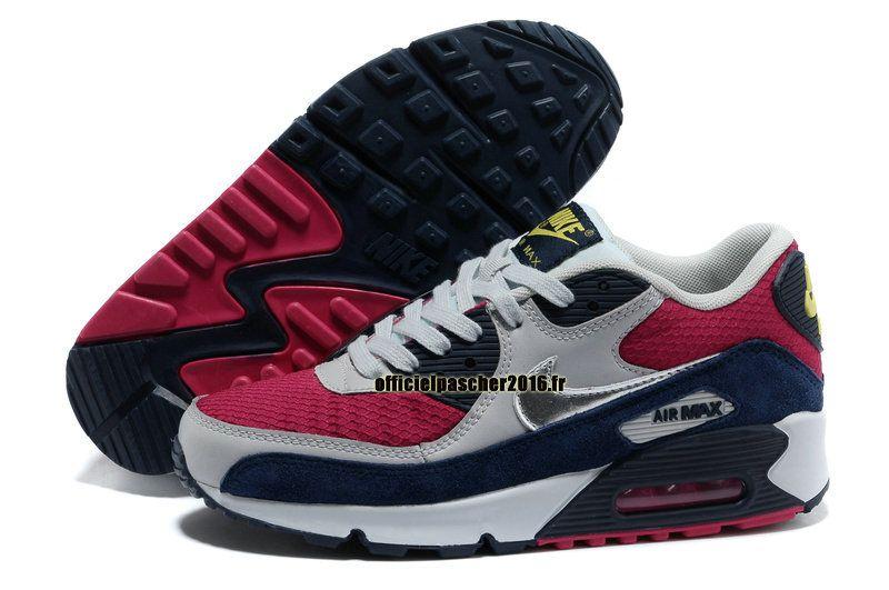 reputable site ebeef c635c Officiel Nike Air Max 90 SJX Chaussures Nike Sportswear Pas Cher Pour Femme  Gris - Rouge - Noir - Bleu