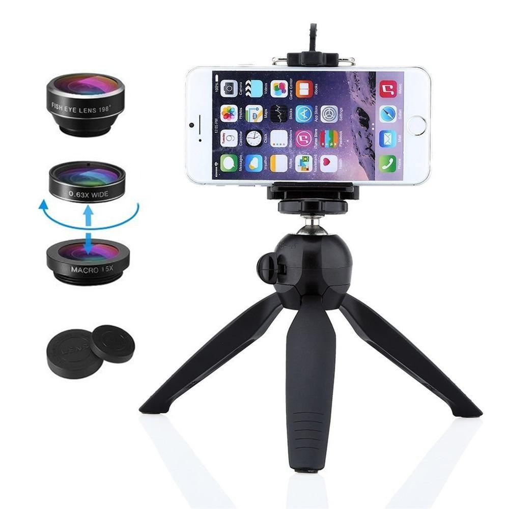 Universal Clip, Fisheye, Wide Angle Macro Lens & Tripod Stand #wideangle