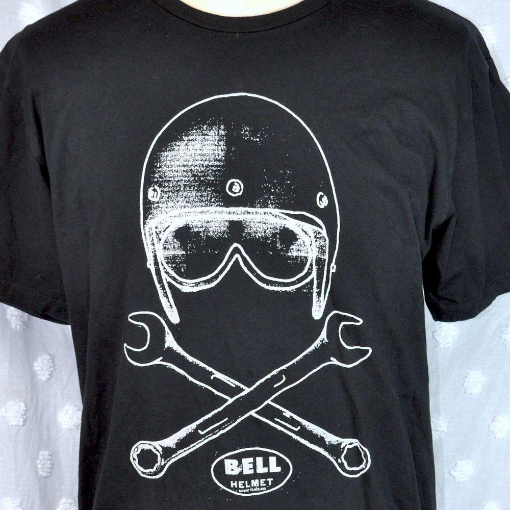T shirt design evansville indiana - Bell Motorcycle Helmet Tankfarm Xl T Shirt Original Apparel Usa Crossed Wrenches