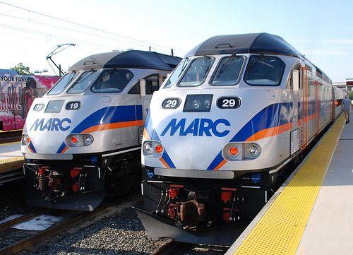 Marc Locomotives At Camden Yards Cropped Diesel Locomotive Locomotive Train