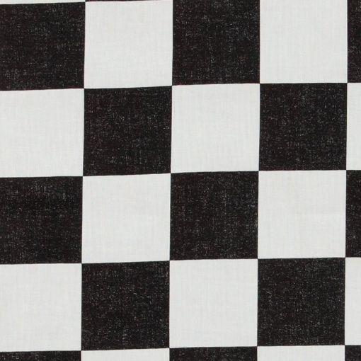 Baumwolle, Schwarz/Weiß, große Karos