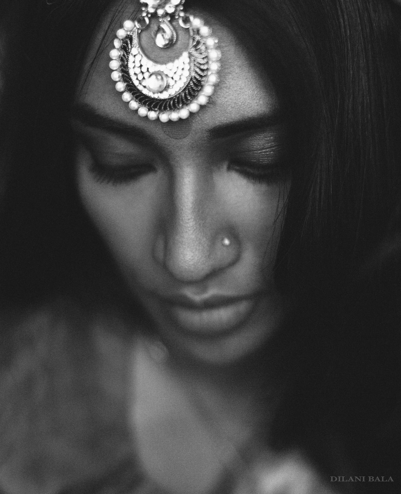 Indian head jewelry south asian indian fashion desi fashion black and white fashion photography photo by dilani bala