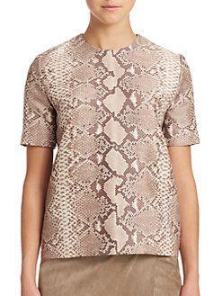 Tory Burch - Mikado Silk & Wool Top