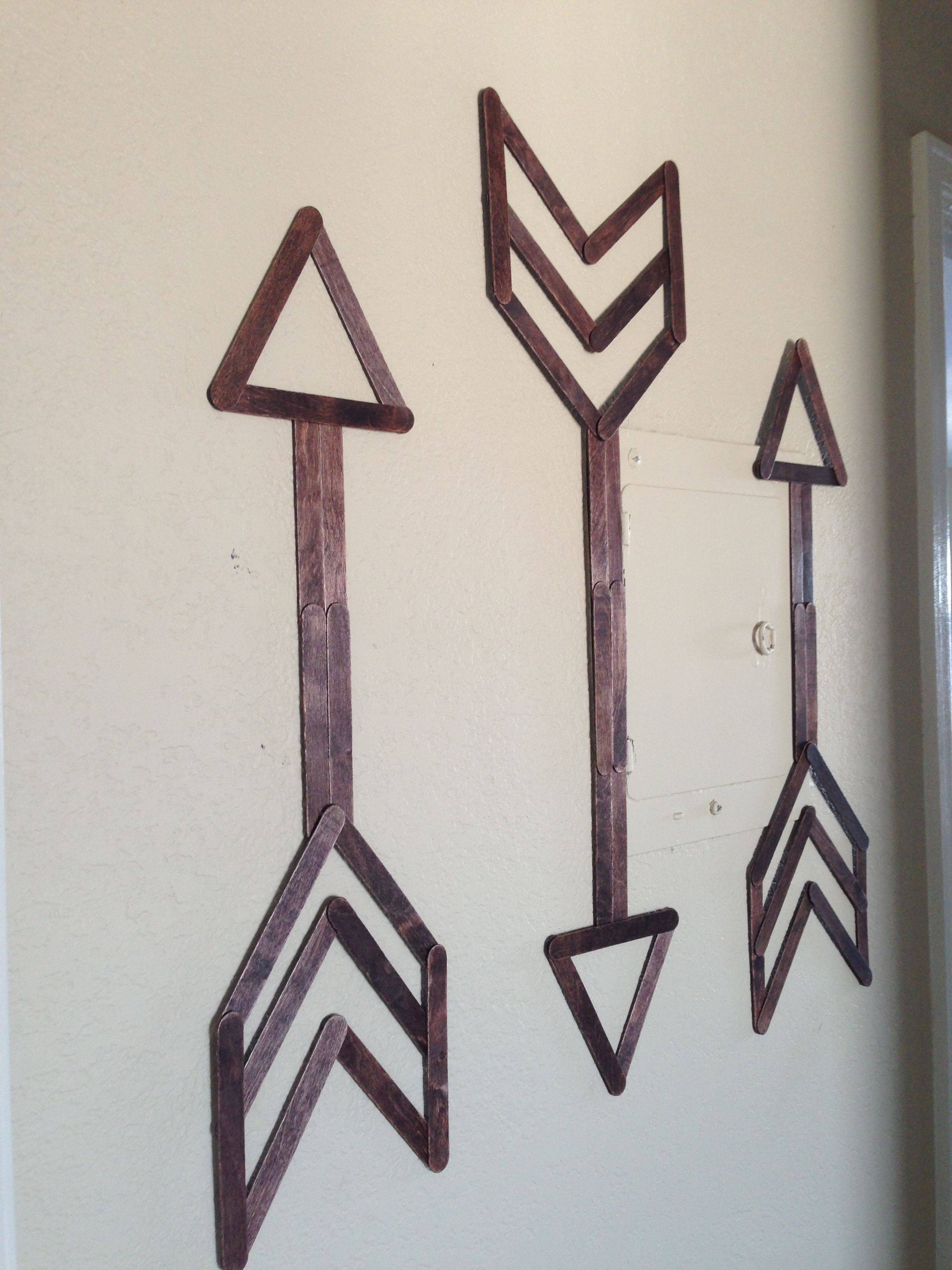 Popsicle stick wall art walls craft and stick crafts for Popsicle art projects