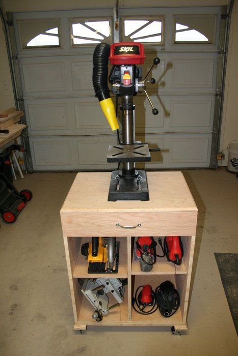 Drill Press Mobile Cart Drill Press Diy Garage Storage