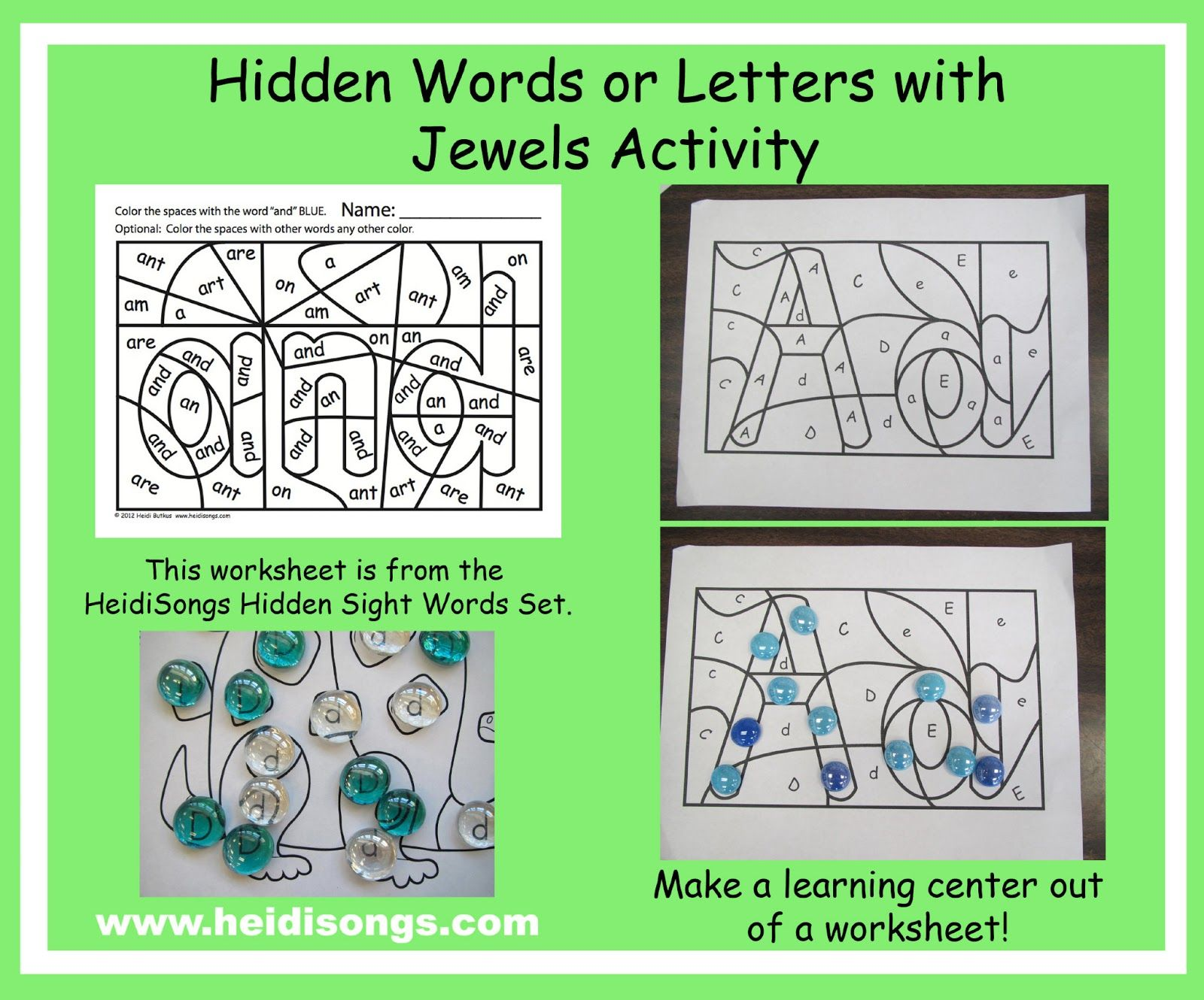 Heidisongs Resource Hidden Sight Words Or Letters With