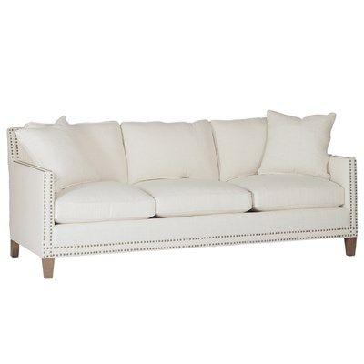 Beautiful White Sofa With Nailhead Trim Sofa Furniture Couch Nailhead Trim Sofa Sofa Upholstery Gabby Furniture