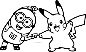 Image Result For Christmas Pikachu Coloring Pages Minion Coloring Pages Pikachu Coloring Page Minions Coloring Pages
