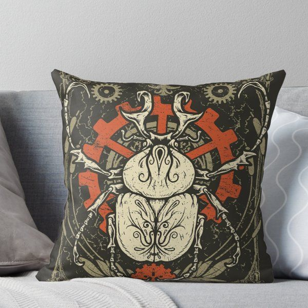 Doom Beetle 1' Throw Pillow by cryface