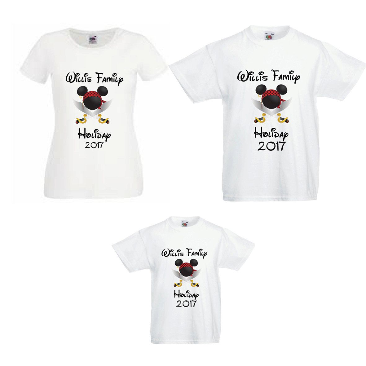 Design t shirt for holiday - Disney Family Holiday Vacation 2017 Family Name Adult Child