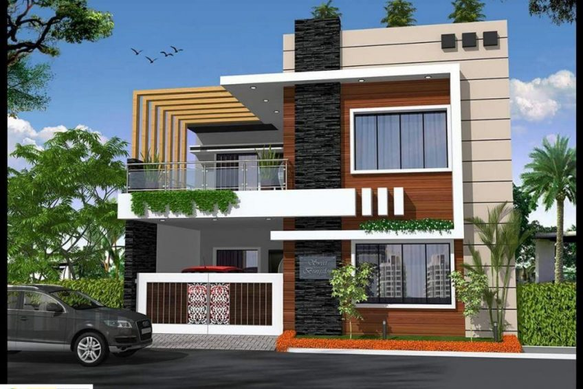 10 Marla House Front Elevations And Exterior Designs Online Ads Pakistan Duplex House Design Kerala House Design House Front Design