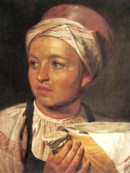 "19th century figurative art | Girl with Milk"" by Alexey Venetsianov (1820s-1830s)"