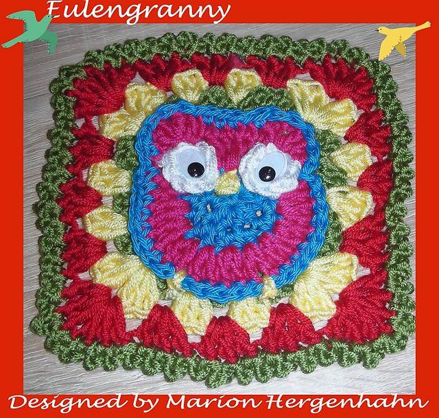 Ravelry: Eulen Granny pattern by Marion Hergenhahn | Crochet: Granny ...