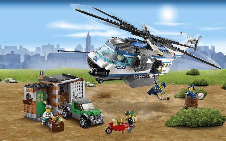Helicoptero De Policia Ciudad De Lego Lego City Policia Policia