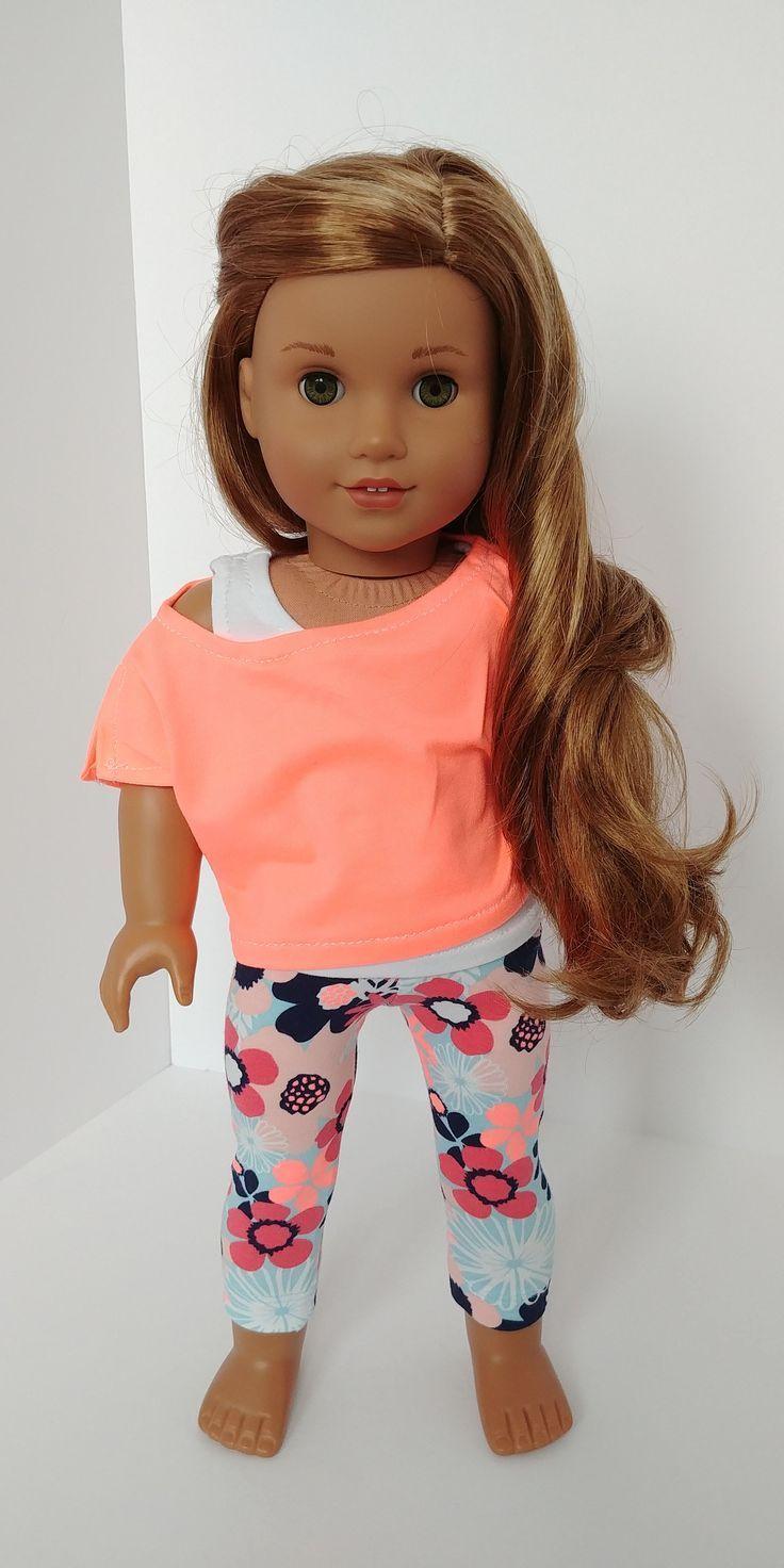 Cute top and leggings for American Girl doll #girldollclothes Cute top and leggings for American Girl doll #americandolls