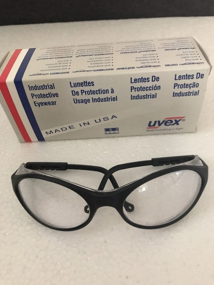 805c8eec6c05 Uvex Safety Glasses BANDIT w/ Black Frame & Clear Lens ULTRADURA HARDCOAT |  eBay