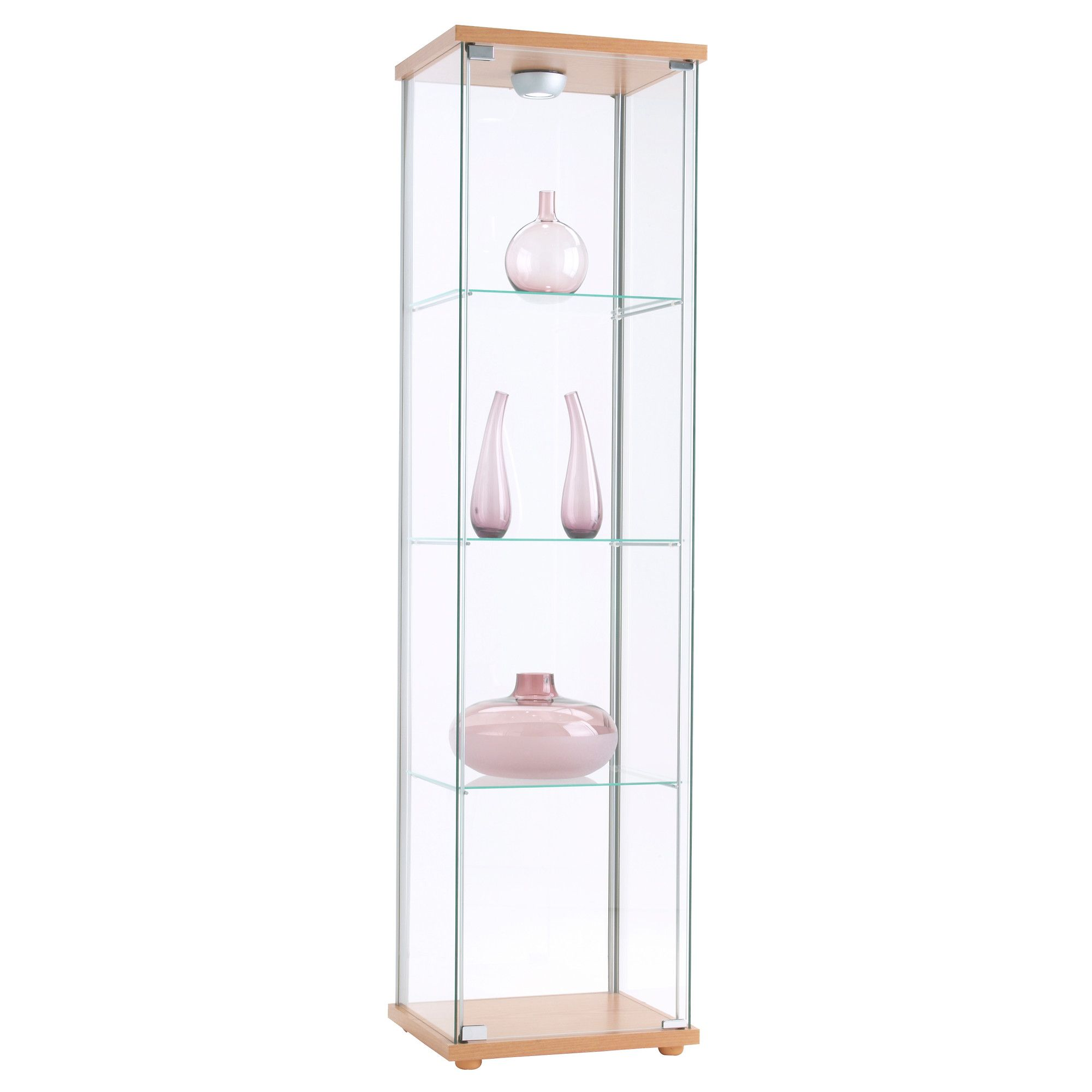 Detolf glass door cabinet black brown glass doors - Ikea glass cabinets ...