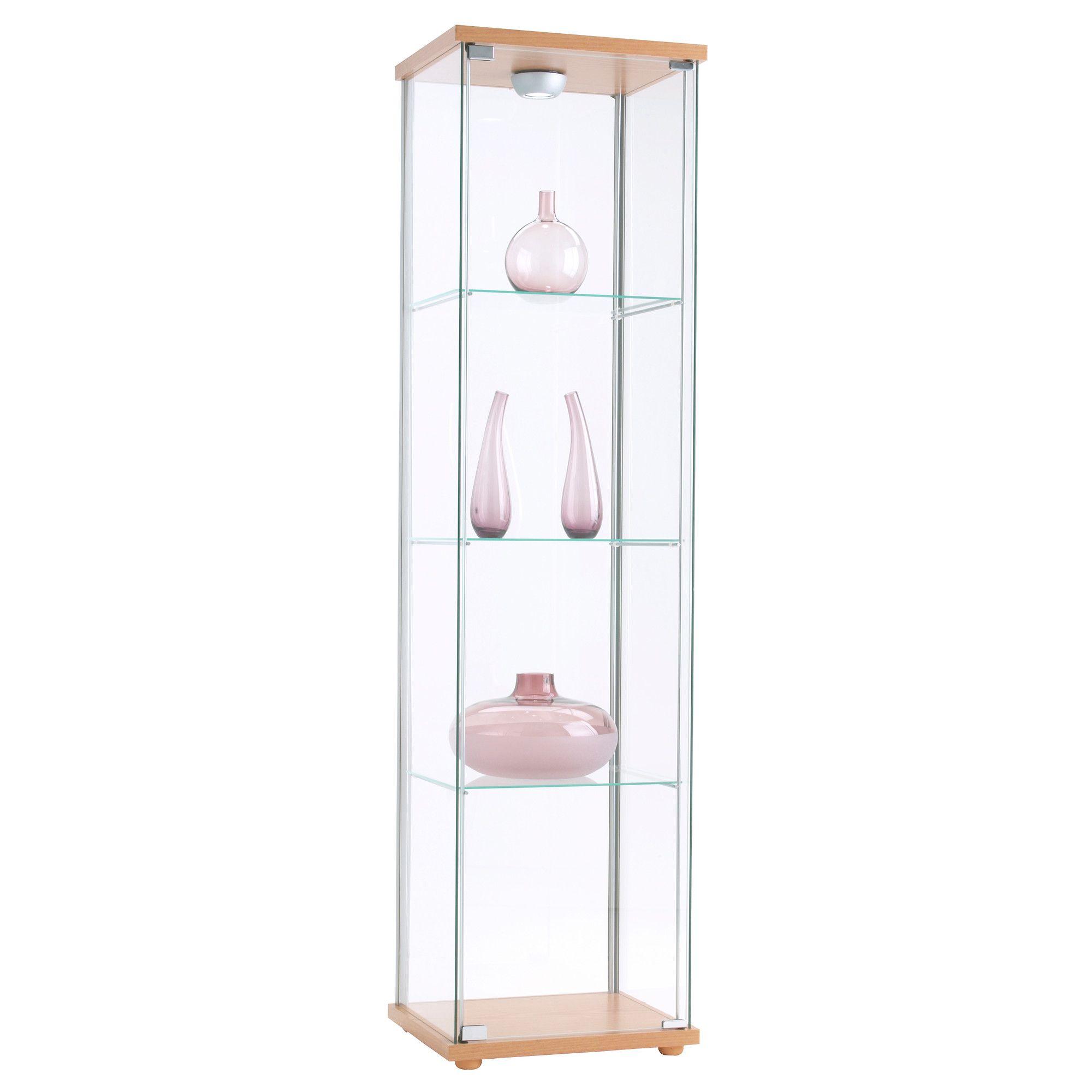 Detolf Glass Door Cabinet Black Brown 16 3 4x64 1 8 Glass