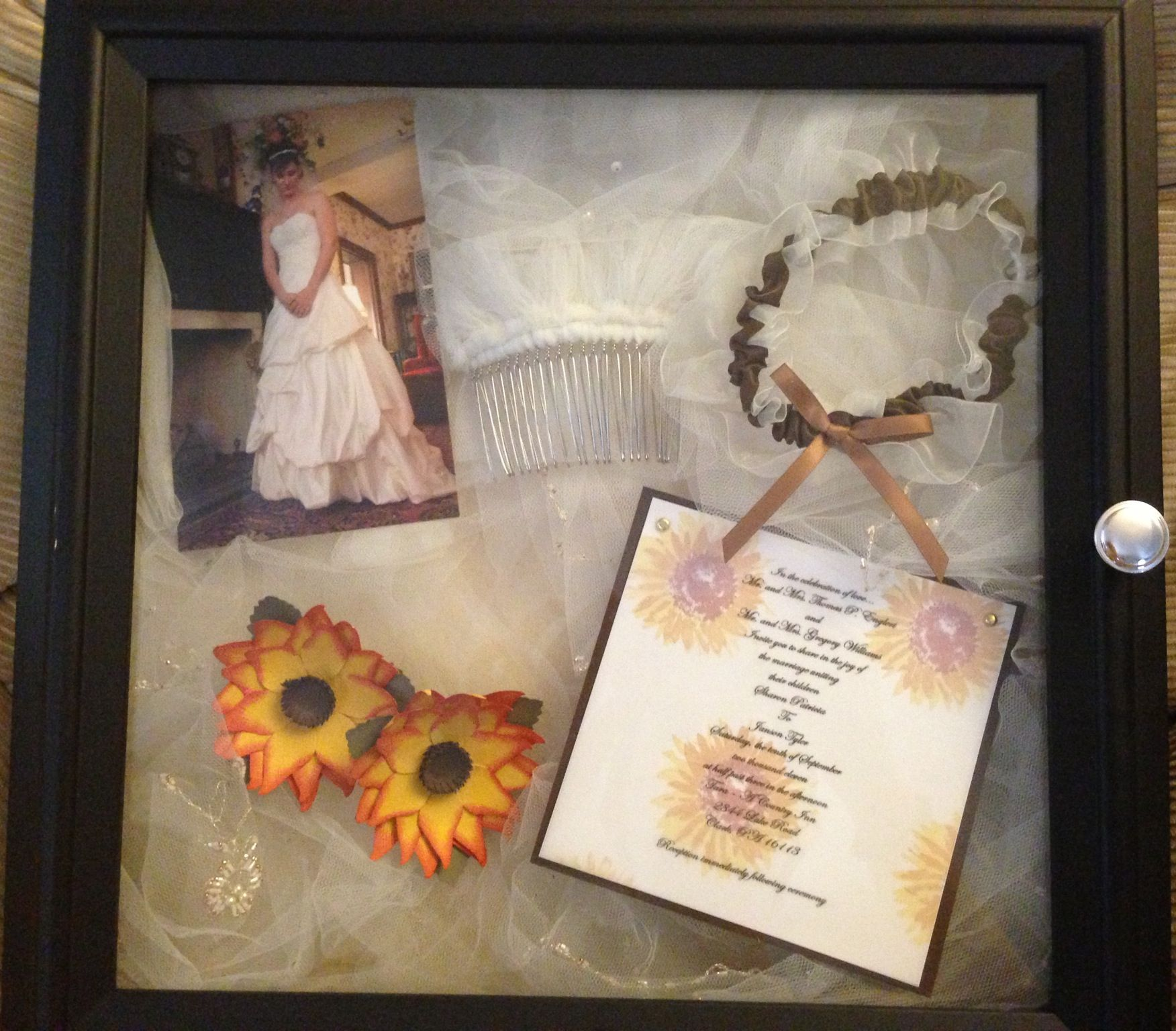 Wedding Day Shadow Box. Display Your Veil To See Daily