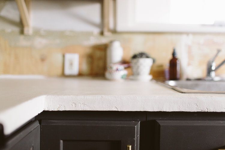 Diy White Concrete Skimcoat Countertop White Concrete