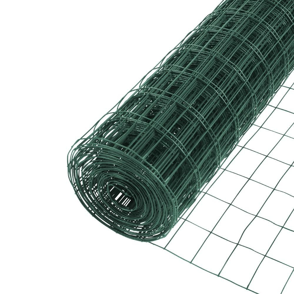 Yardgard 5 Ft X 50 Ft 16 Gauge Vinyl Galvanized Welded Wire 308354b The Home Depot In 2020 Welded Wire Fence Pvc Coat Galvanized