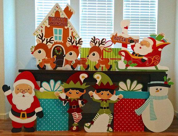 navidad polo norte fiesta de navidad decoracin de navidad navidad prop santa santa prop mueco de nieve elfos elfos prop renos