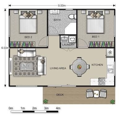 Converting A Double Garage Into A Granny Flat Google Search Small House Plans House Plans Granny Pods Floor Plans