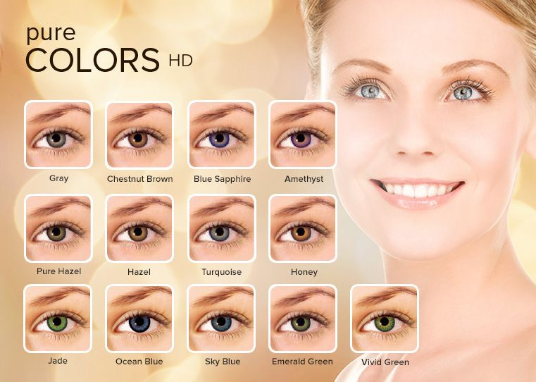 Pure Colors Hd Contacts From 7 99 No Taxes From Canada Pure Products Pure Color Color