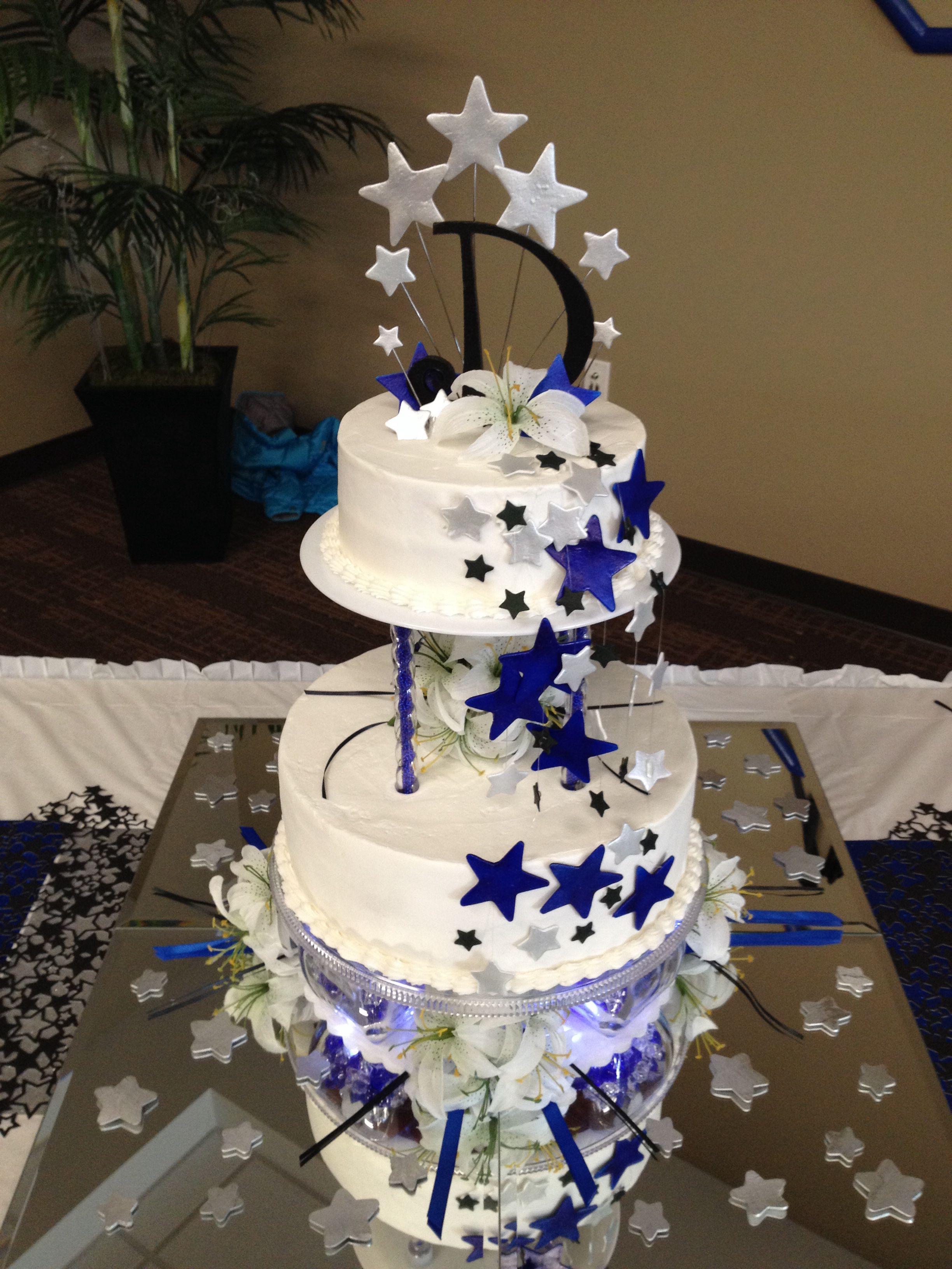 Stars Wedding Cake Quinceanera Decorations Quinceanera