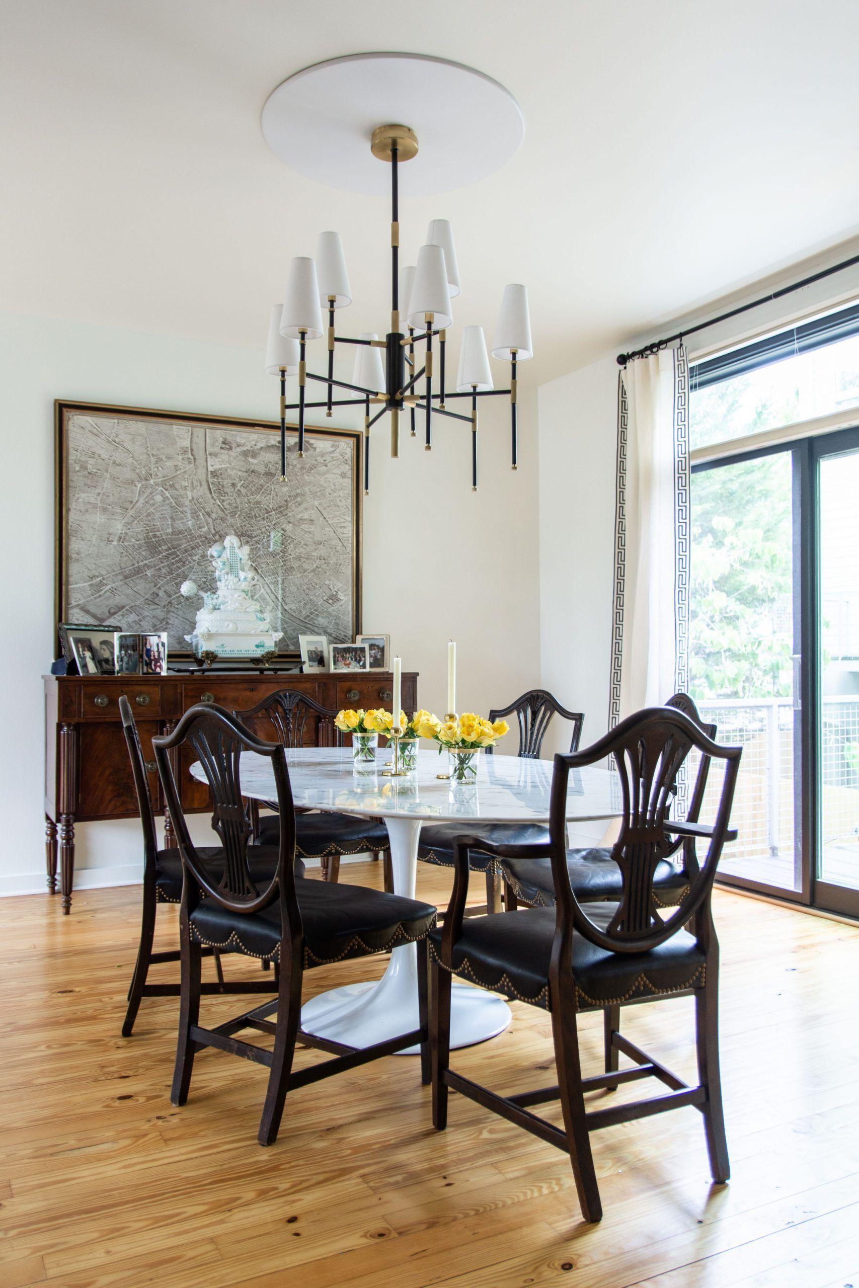 Westside Project Hudson Valley Lighting Modern Chandeliers Tulip Chair Dining Modern Chandelier Dining Room Design