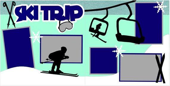 Ski trip 2 page 12x12 do it yourself scrapbook kit ski trips ski trip 2 page 12x12 do it yourself scrapbook kit solutioingenieria Choice Image