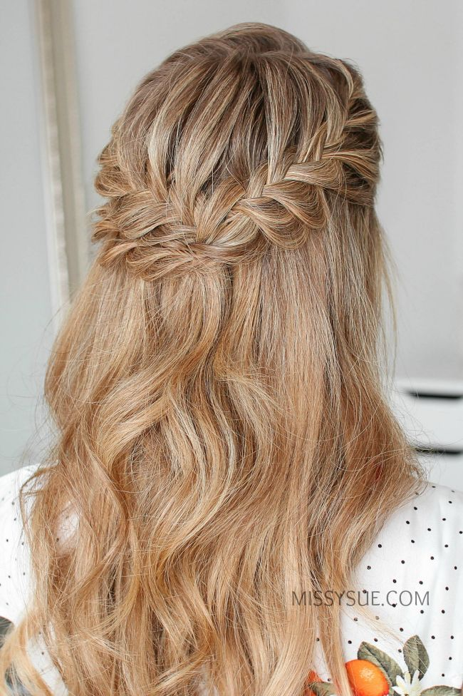 Half Up Double Fishtail French Braids Wedding Half French Braids Braided Hairstyles For Wedding Fishtail French Braid