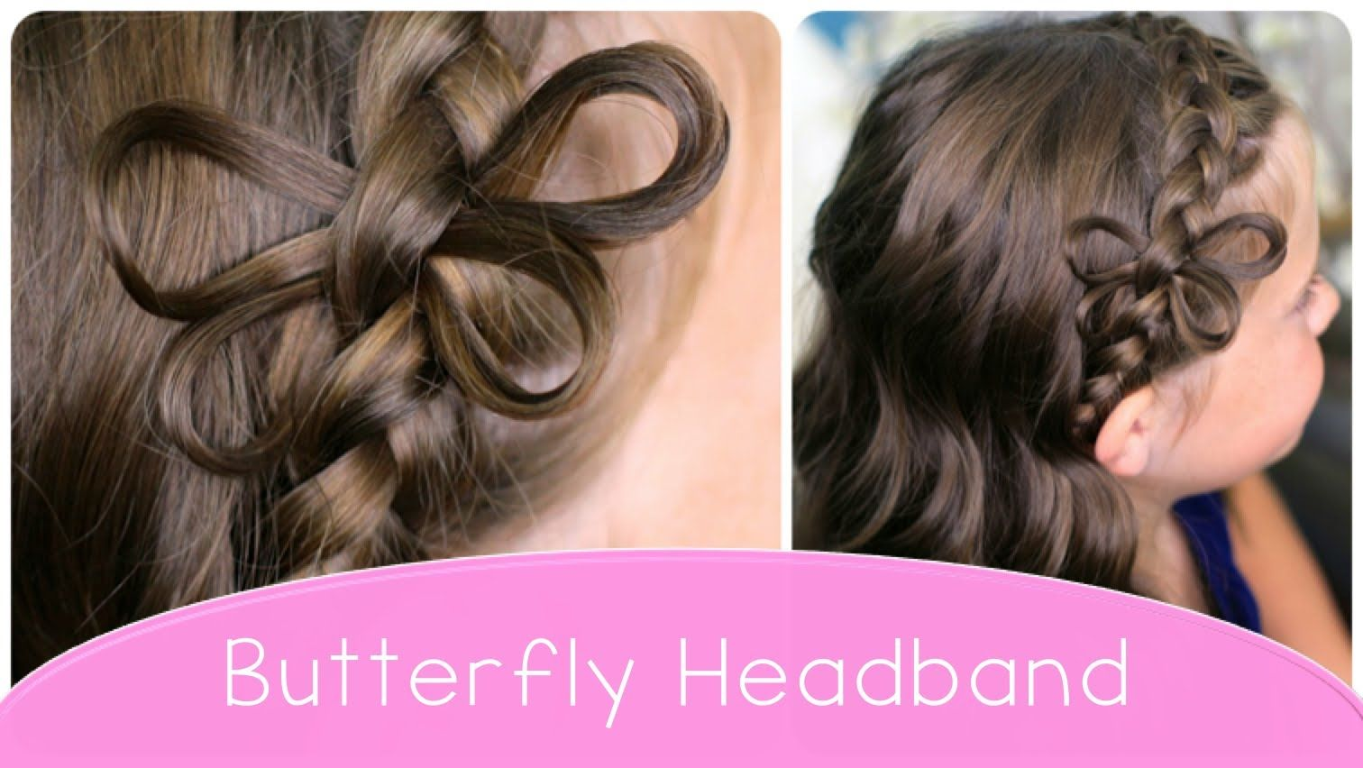 Butterfly Braided Headband