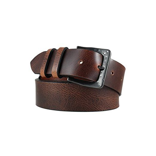 HoffeBelts Men's Hand Crafted Brown Genuine Leather Belt
