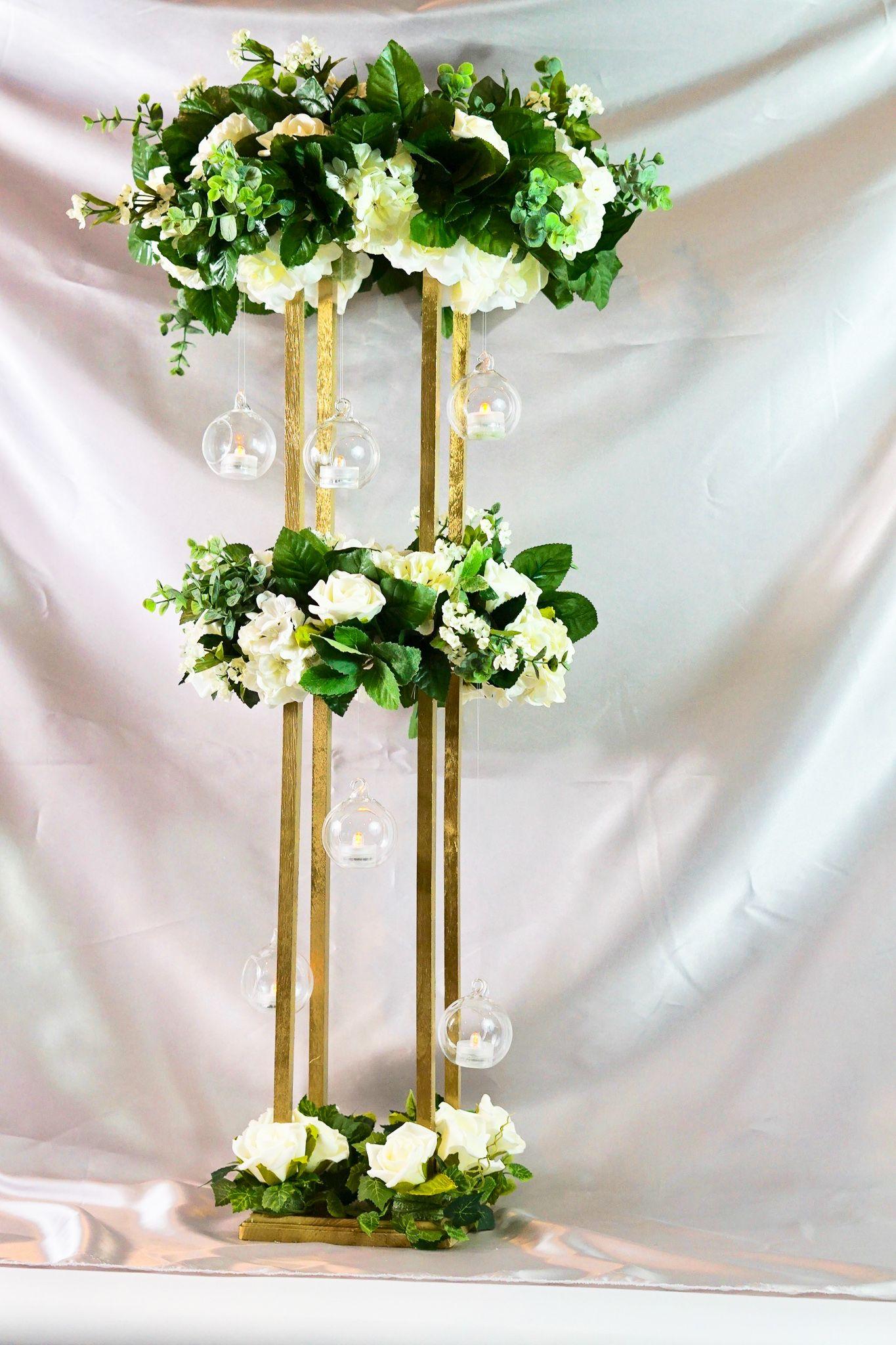 How To Make A Tall Circle Rose Garden Wedding Centerpiece