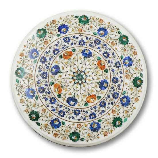 Superb Pietra Dura Marble Inlay Table Top Agra India Inlay Download Free Architecture Designs Scobabritishbridgeorg
