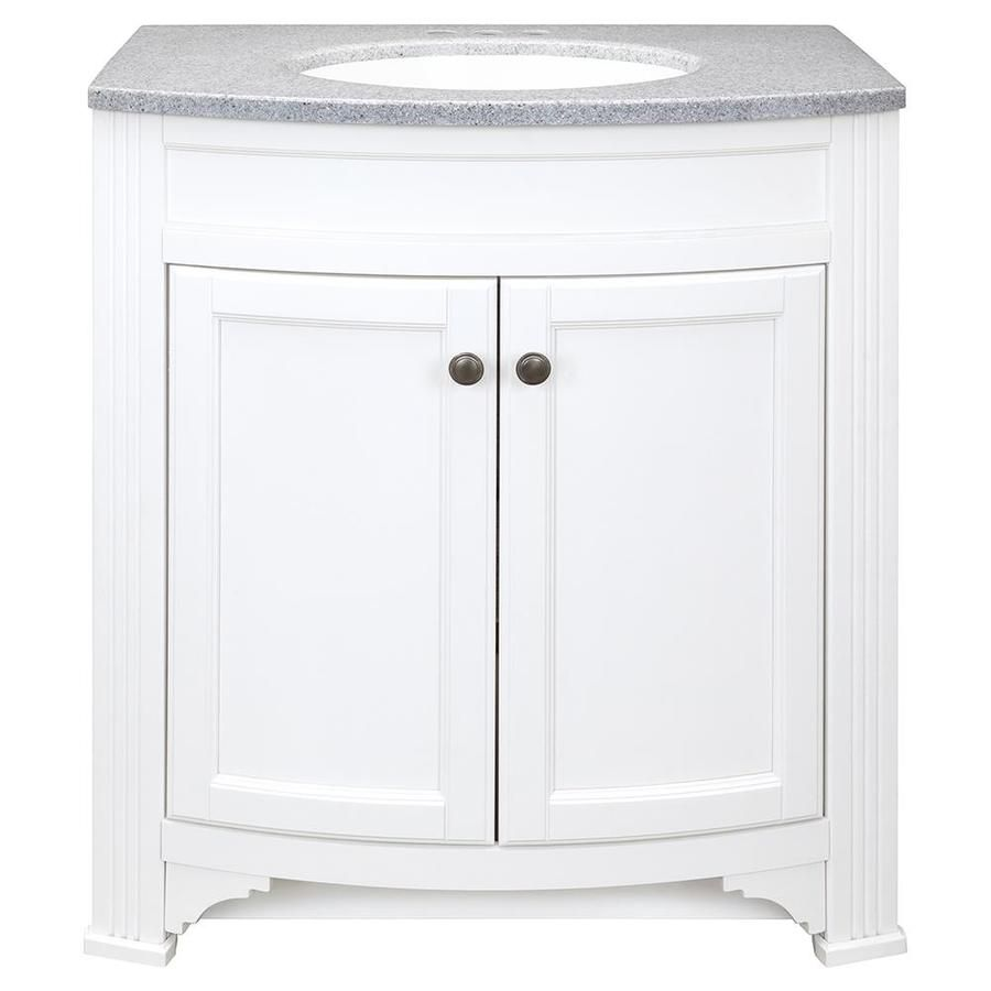 319 00 Style Selections Delyse White Integral Single Sink
