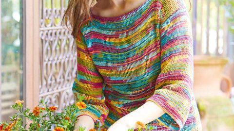 Pullover tunesisch gehäkelt | Crochet - häkeln | Pinterest ...