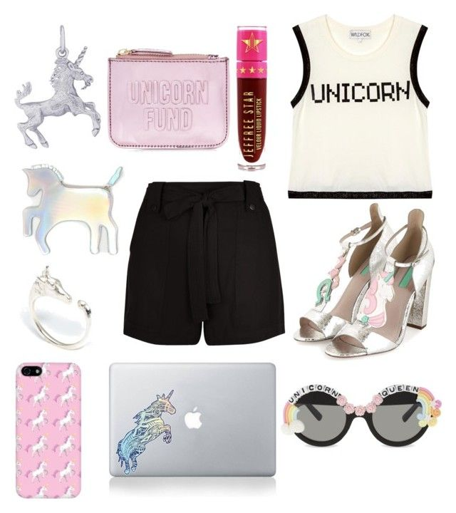 """Unicorn"" by isobelle206 ❤ liked on Polyvore featuring Wildfox, New Look, Rembrandt Charms, Vinyl Revolution, Jeffree Star, LeiVanKash, Topshop and Rad+Refined"