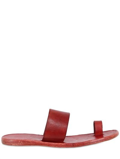 14c152498fdc32 Dimissianos Miller Daktylo Grained Leather Sandals