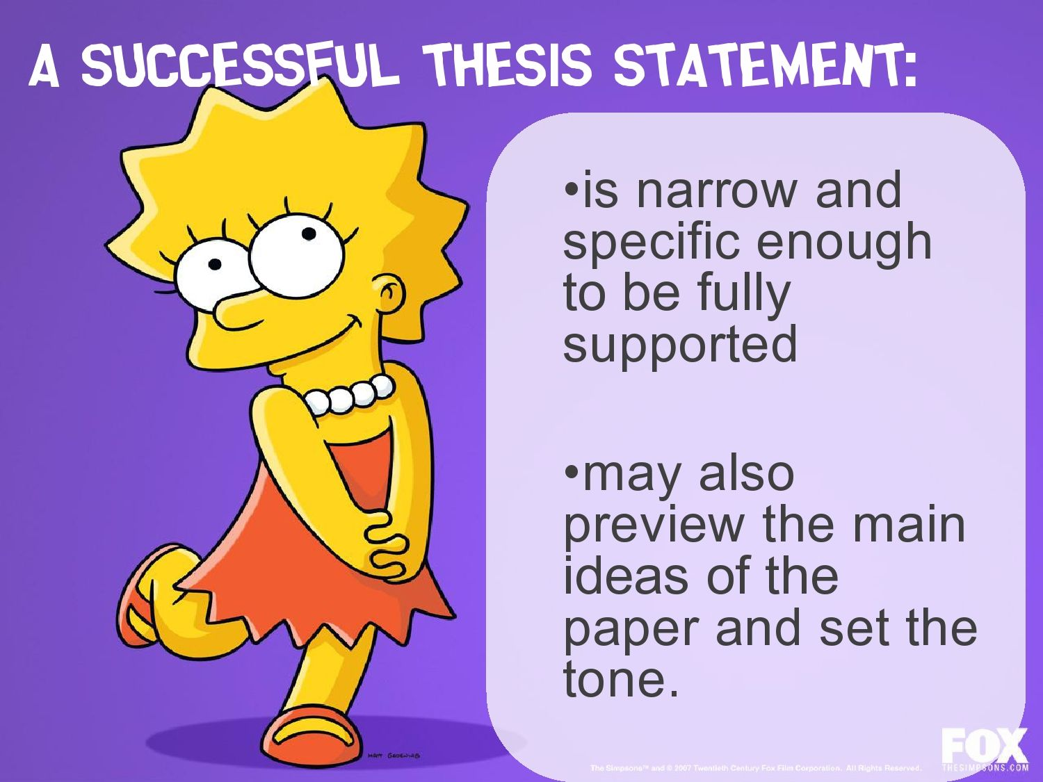 Making a thesis statement for an essay