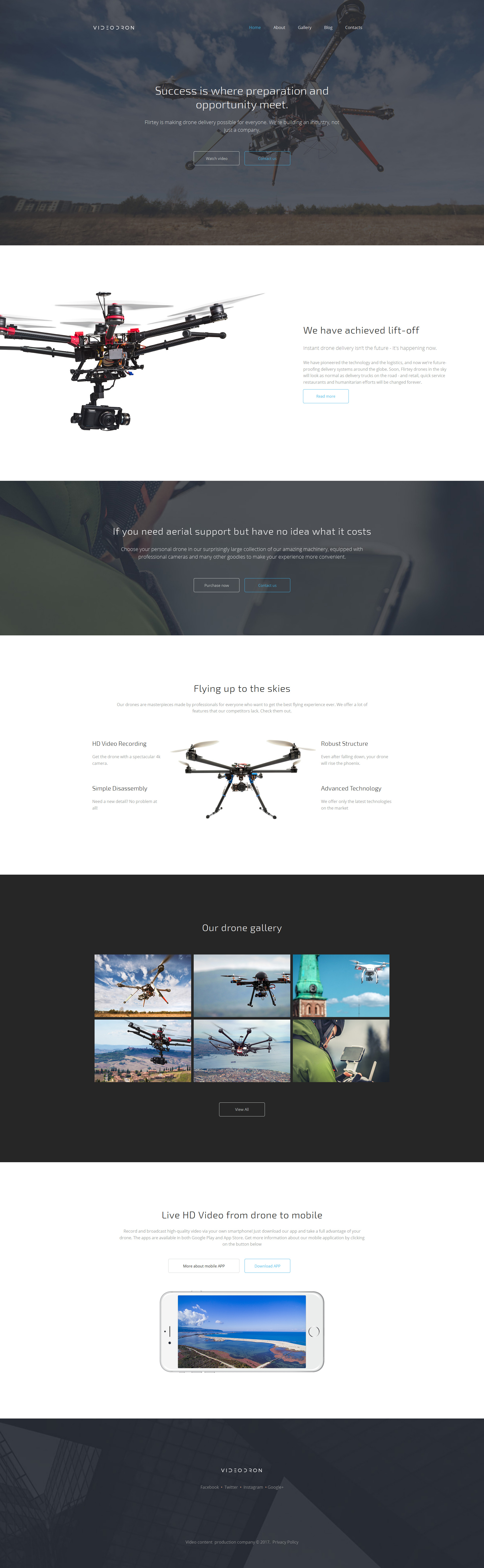 Videodron - Premium Moto CMS 3 Template | Template and Responsive ...