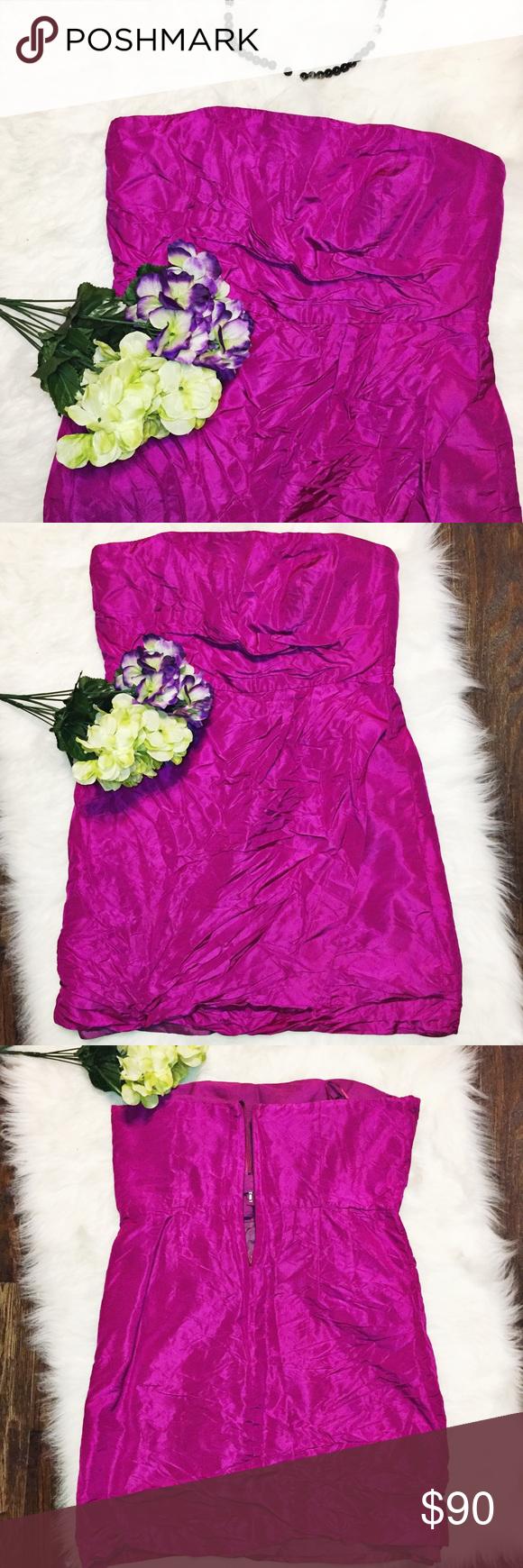 J.Crew • strapless dress • Selma in silk tafetta
