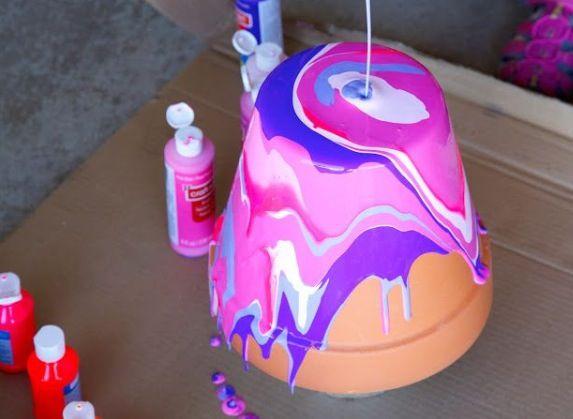 Flower pot paint idea  Love it? Like it!